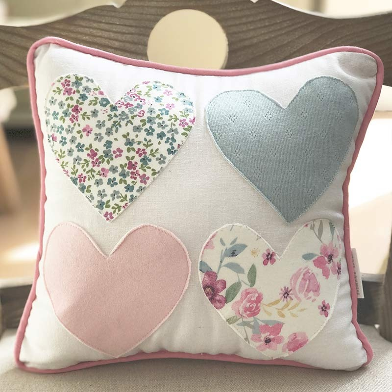 Keepsake Cushion – FOUR HEARTS